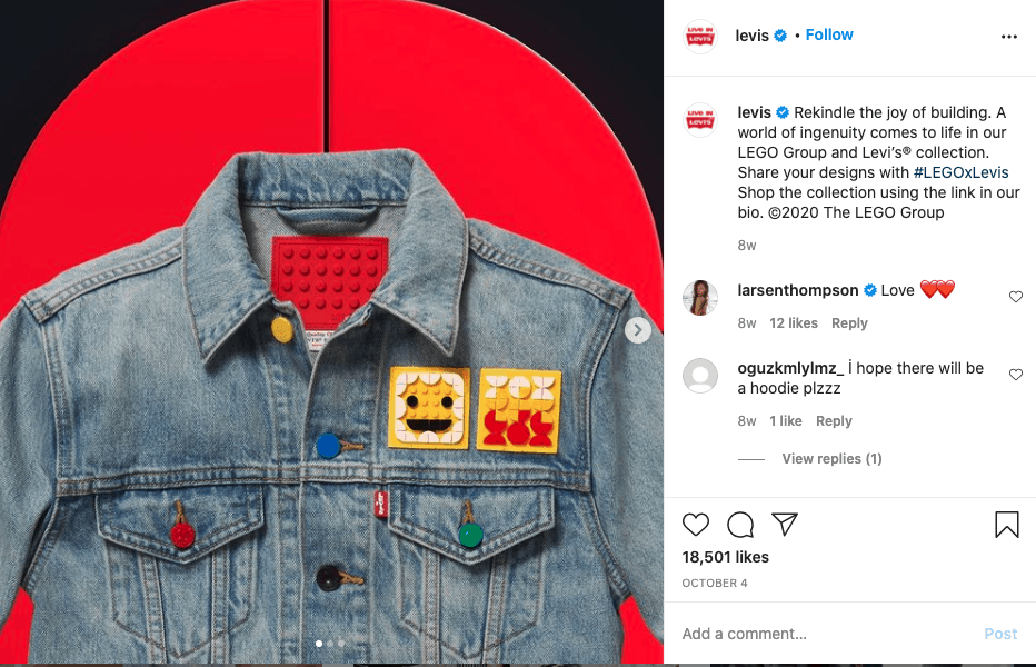 Example of two brands co-launching a product together.