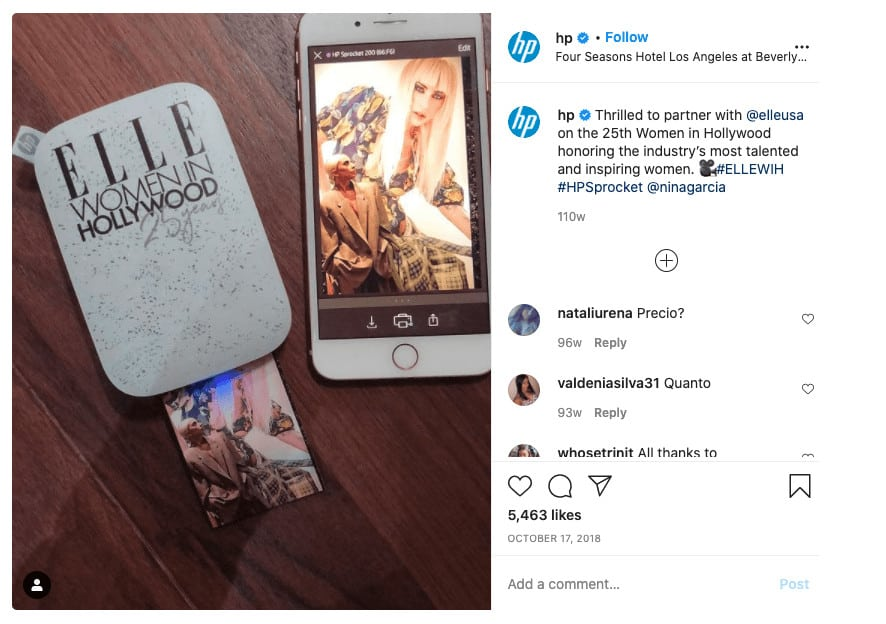 An example of brand collaboration that leads to posting more content on Instagram.