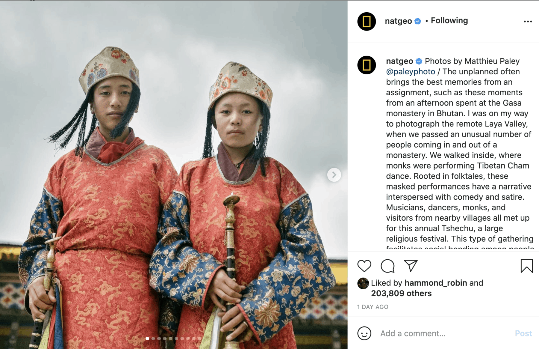Long captions example, a big Instagram marketing trend for the coming year.