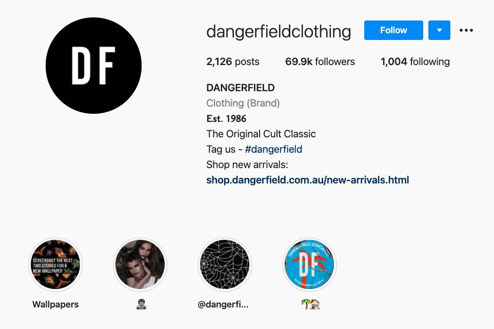 Dangerfield's hashtag in bop strategy