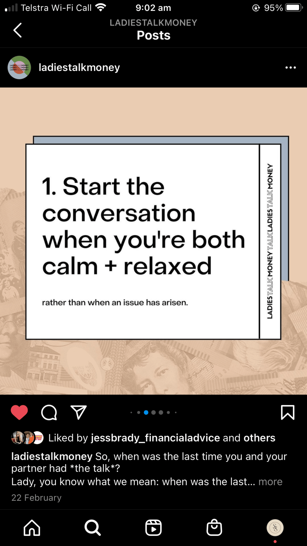 Ladies Talk About money slide 2 advice: start the conversation when you're both relaxed and calm