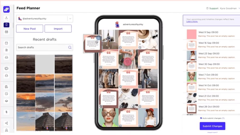Sked Social's visual planner tool