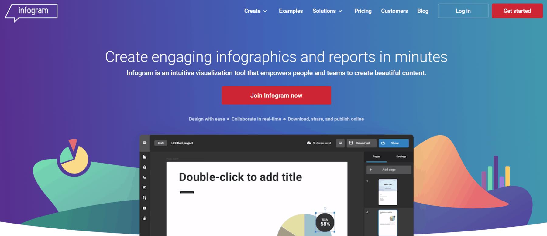Infogram infographic maker