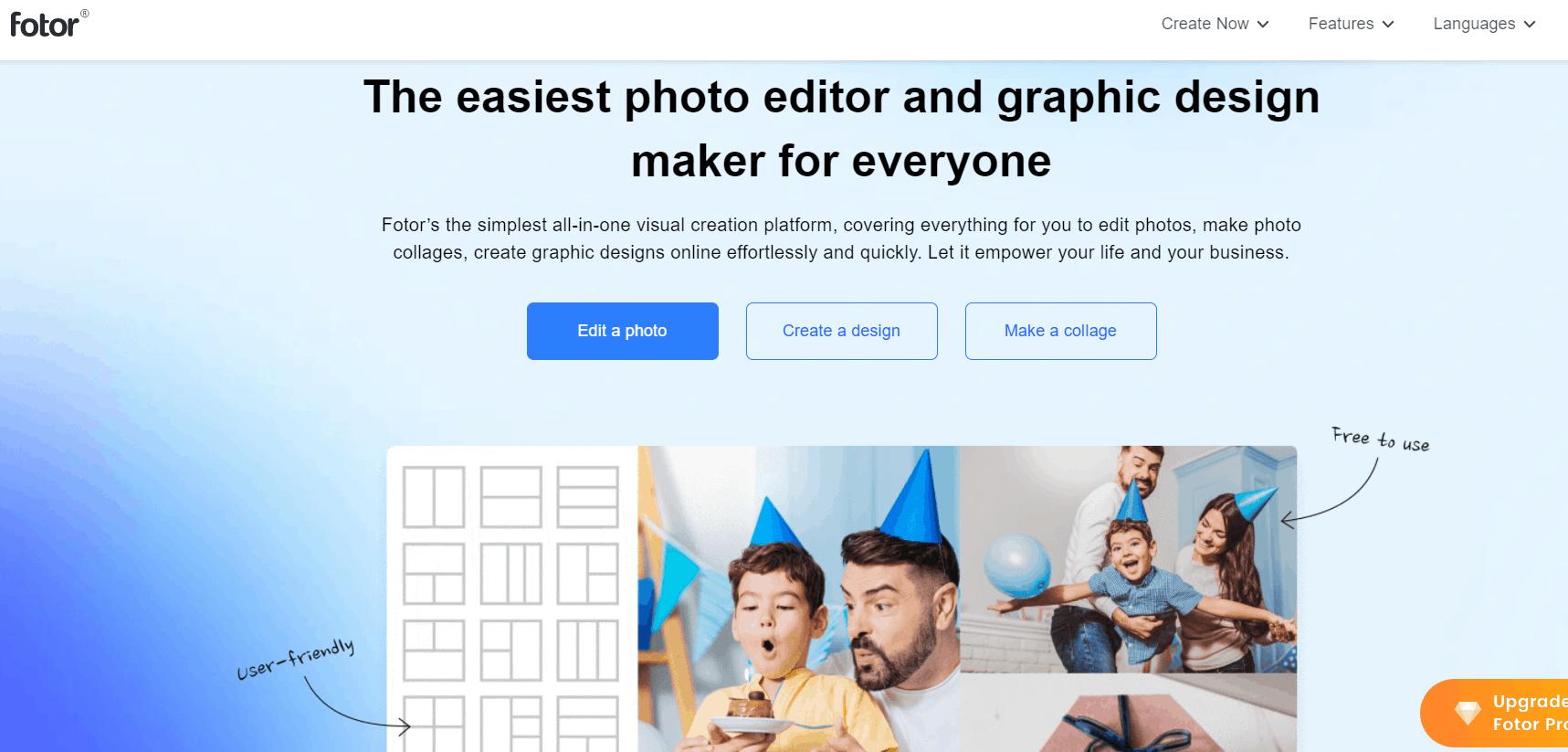 Fotor photo ediate and graphic design maker