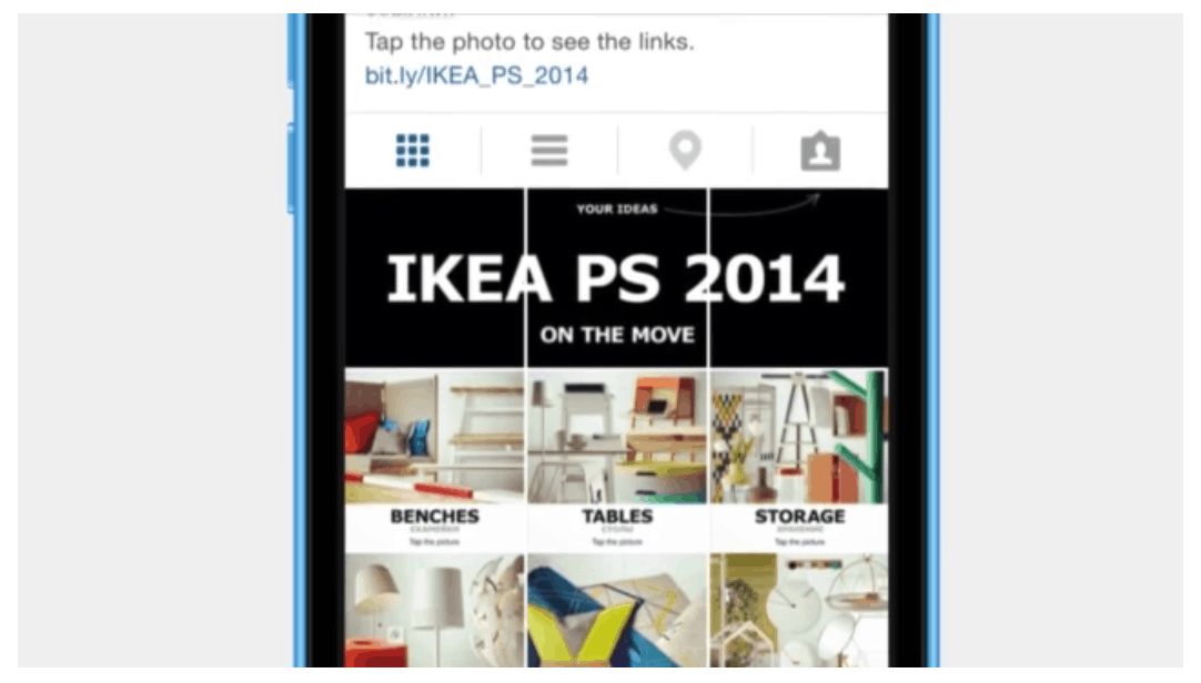 IKEA PS categories, including benches, tables and storage