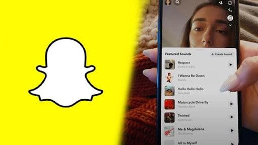 Snapchat user scrolling