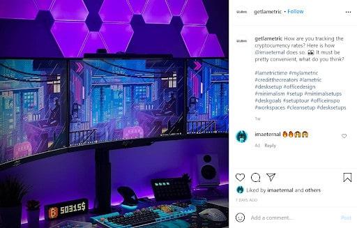 LaMetric's customers gaming set up
