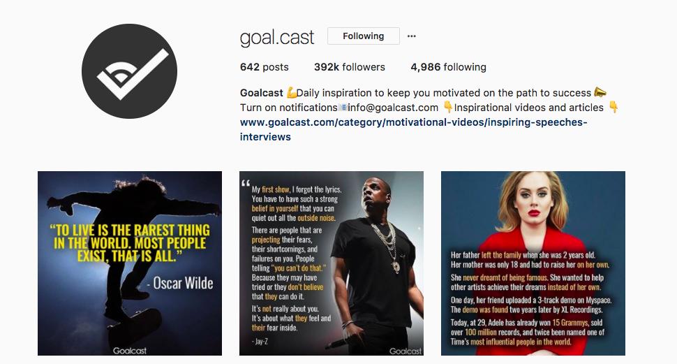 Instagram Post Ideas - Goalcast - Sked Social