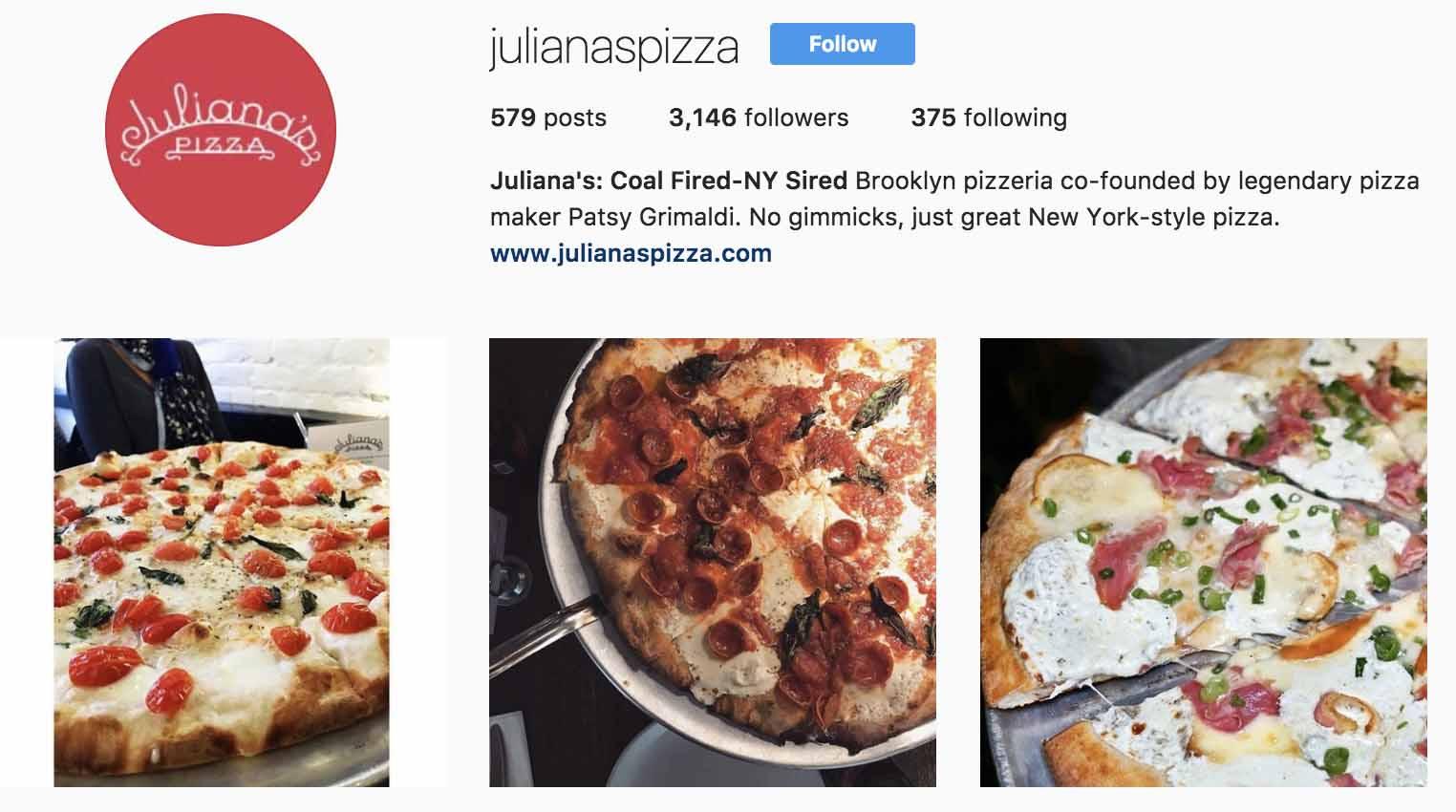 instagram-bio-ideas-julianas-pizza