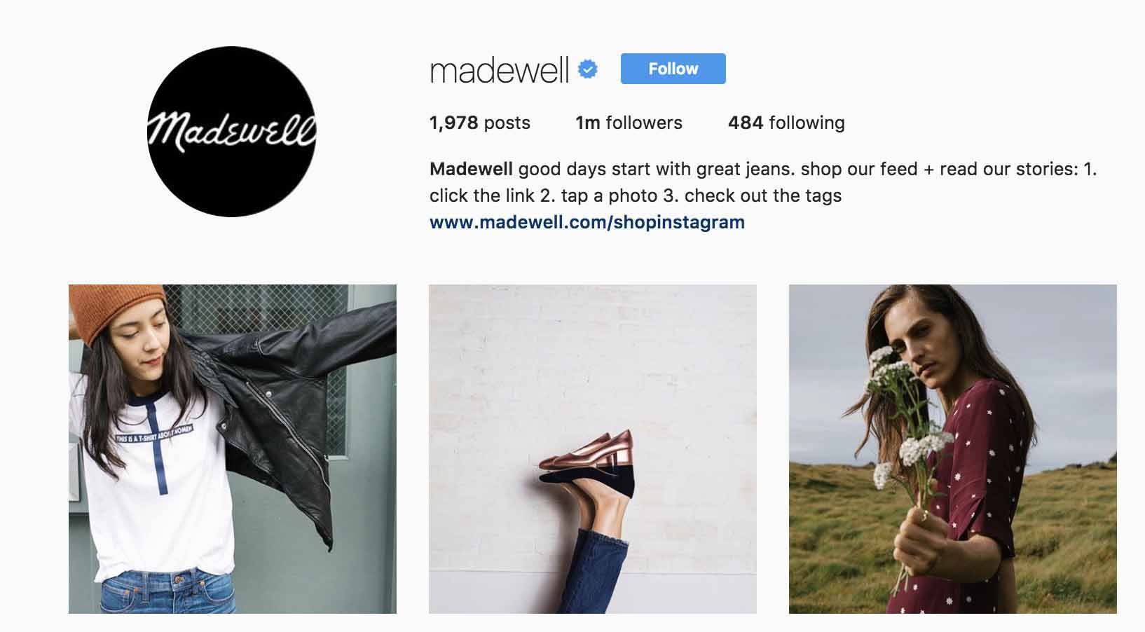 instagram-bio-ideas-madewell