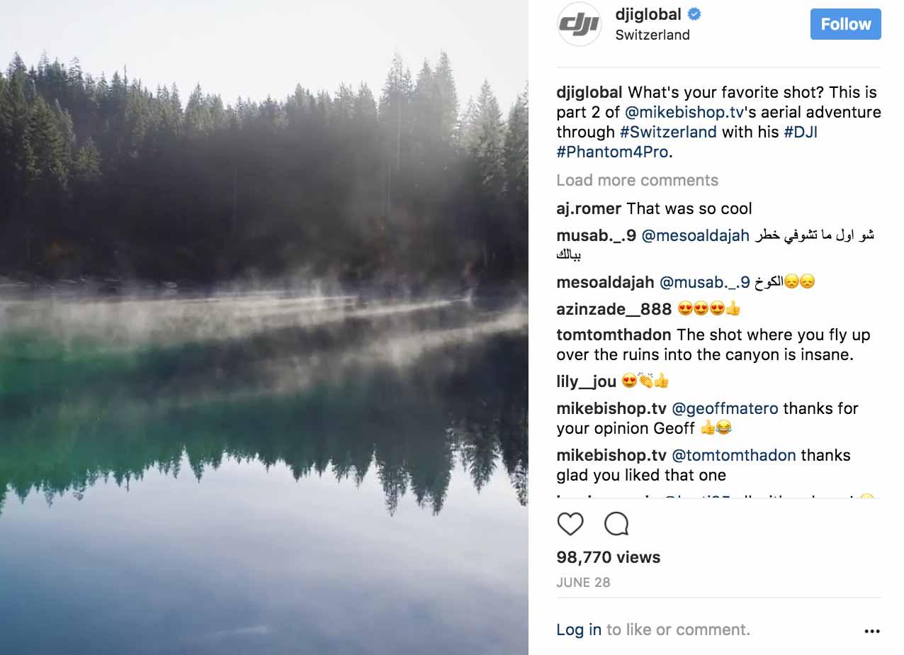 Instagram Marketing 2017 - DJI - Sked Social
