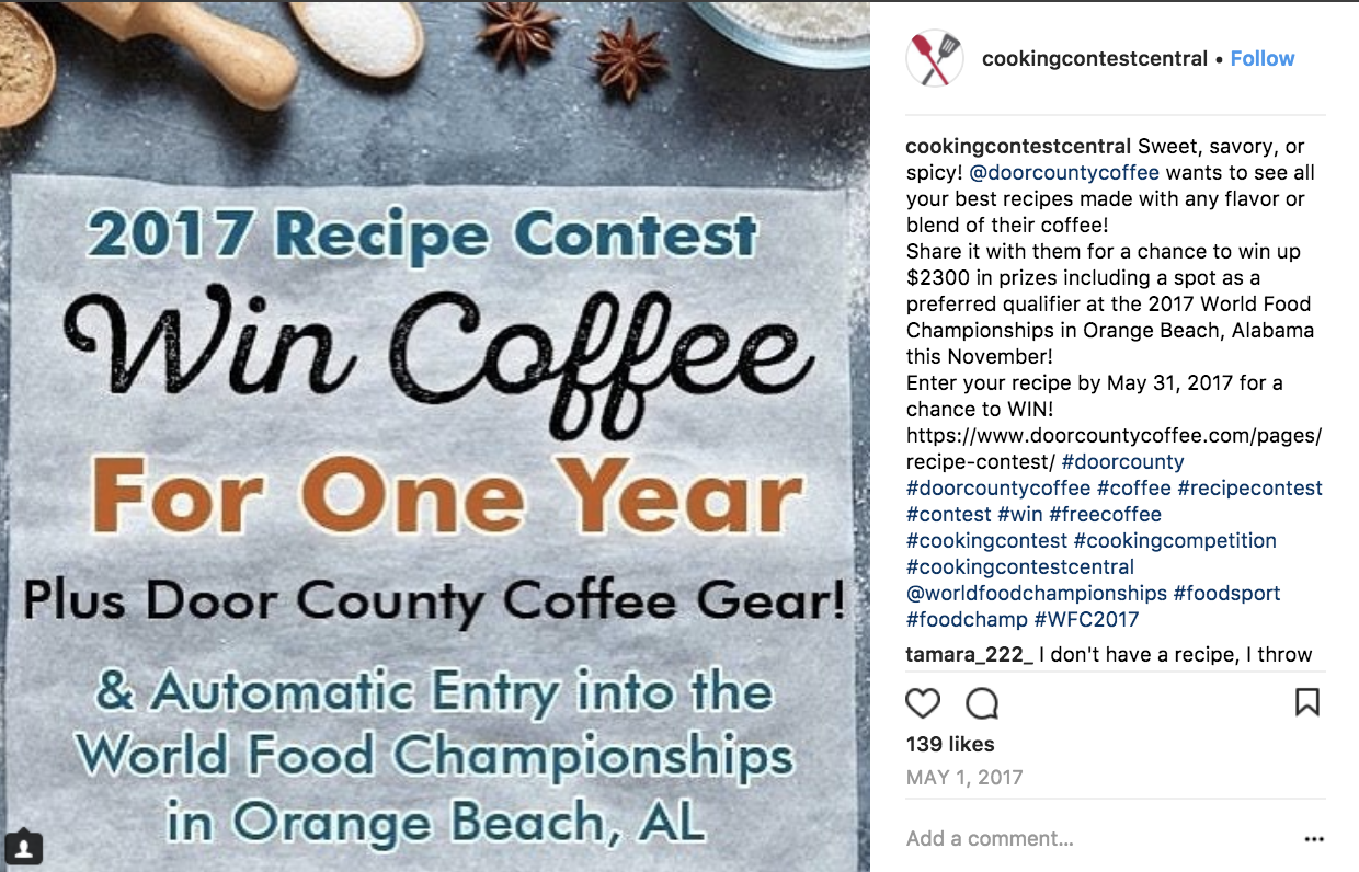 instagram photo contest