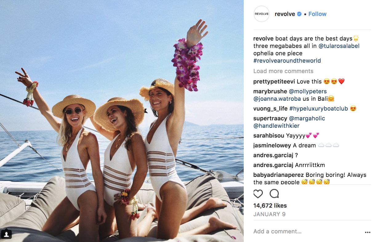 instagram fails Revolve
