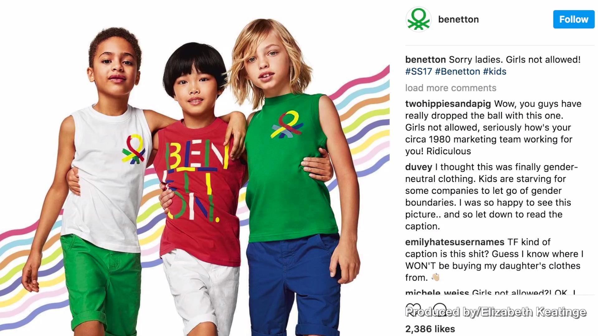 instagram fails Benetton