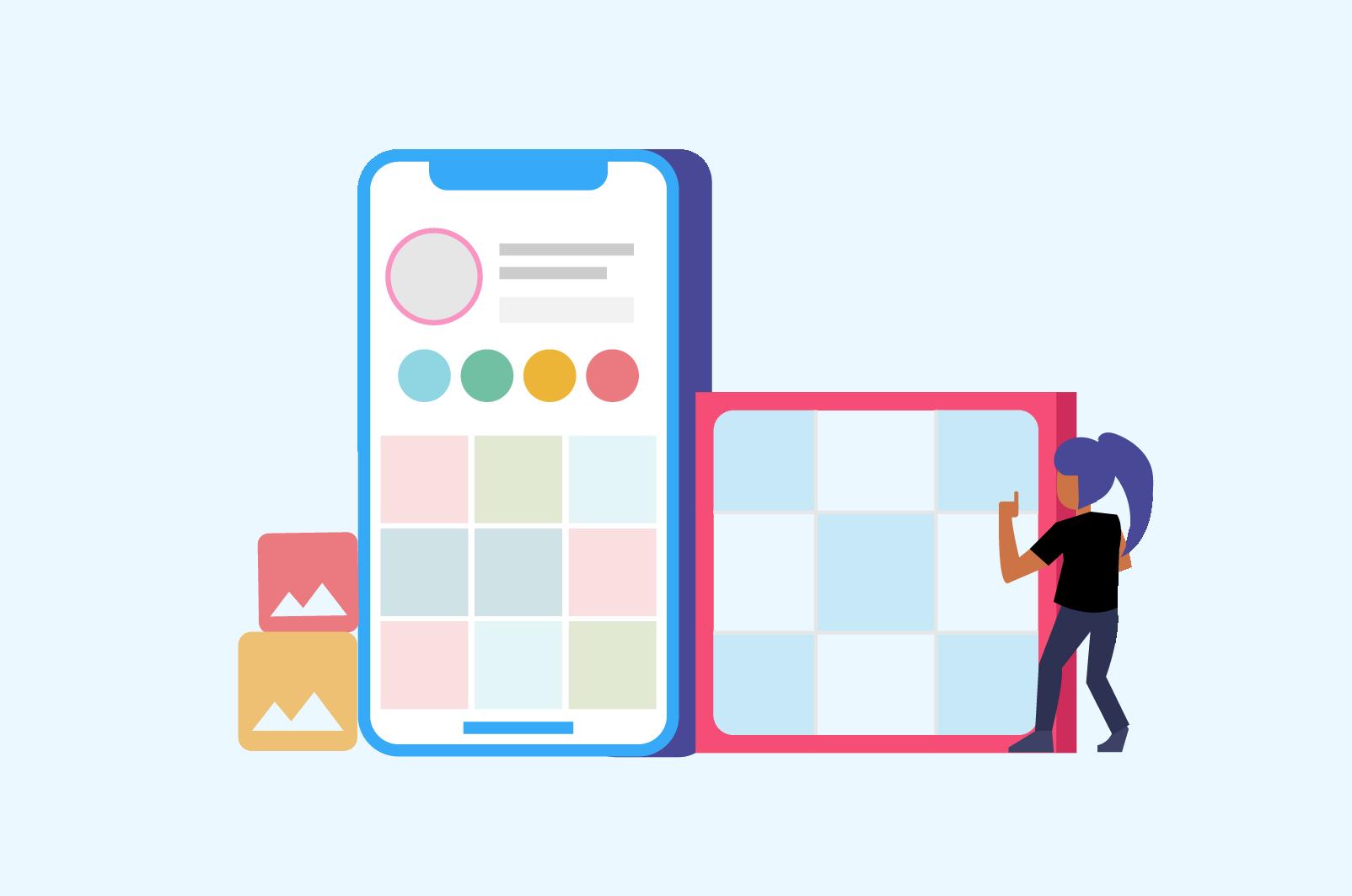 grid layout app for instagram planning creative grid ideas