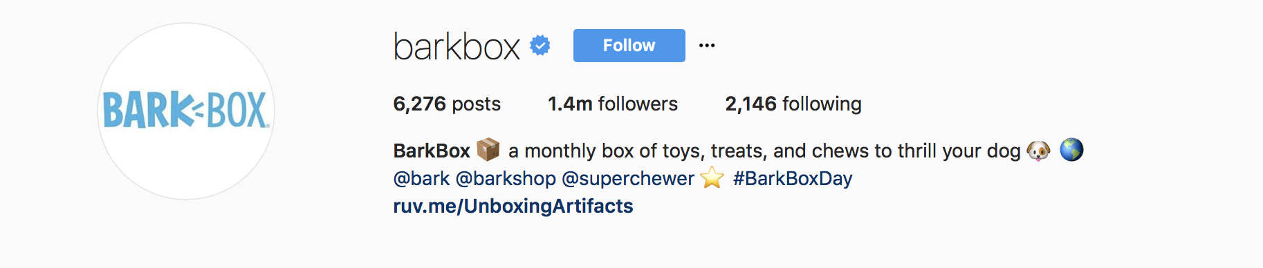 instagram business bio